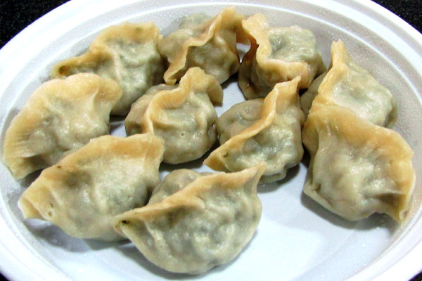 photo of vegetable dumplings from the Taiwan Cafe, Boston, MA