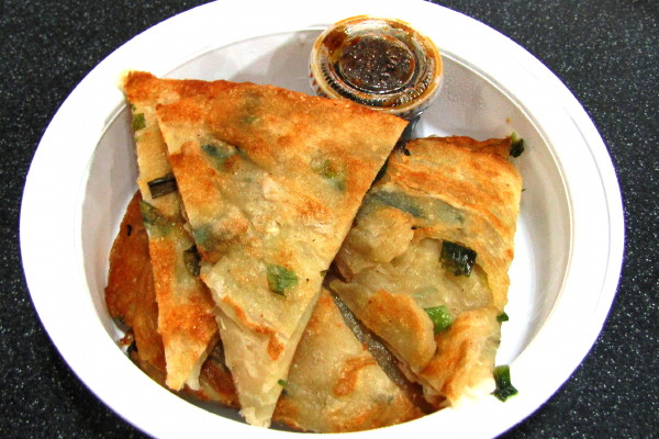 photo of scallion pancakes from the Taiwan Cafe, Boston, MA