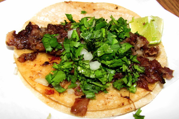 photo of beef cheek taco from Taqueria El Amigo, Waltham, MA