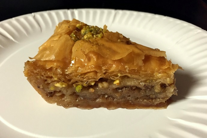 photo of baklava from Taso's Euro-Cafe, Norwood, MA