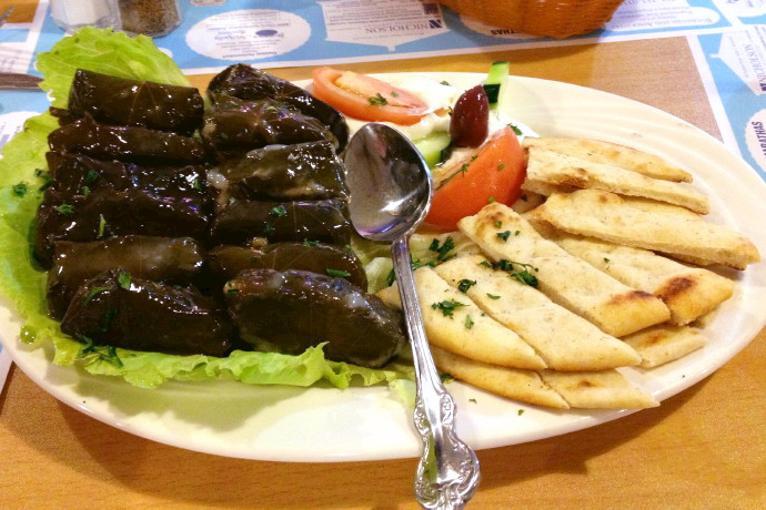 photo of stuffed grape leaves from Taso's Euro-Cafe, Norwood, MA
