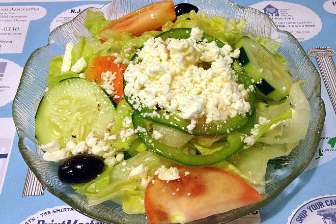 photo of a Greek salad from Taso's Euro-Cafe, Norwood, MA