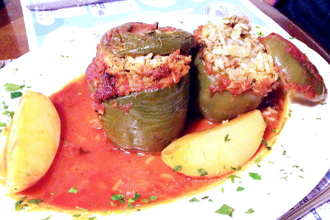 photo of stuffed peppers from Taso's Euro-Cafe, Norwood, MA