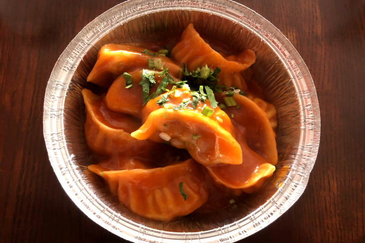 photo of chili momos from Tasty Mo:Mo:, Somerville, MA