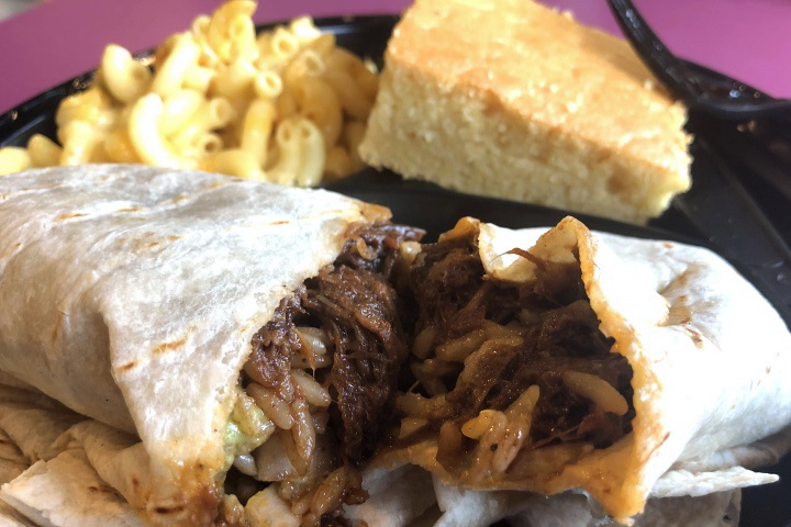 photo of chopped beef burrito from Tennessee's, Braintree, MA