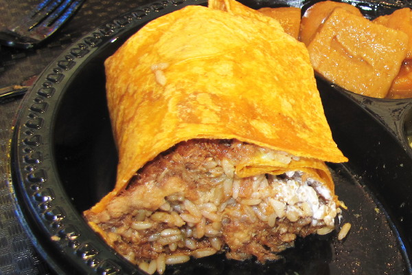 photo of pulled pork burrito from Tennessee's, Braintree, MA