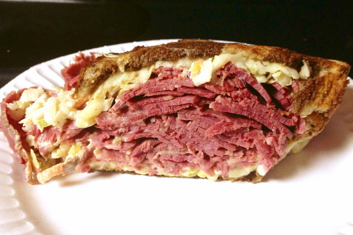 photo of a reuben sandwich from The Restaurant, Woburn, MA