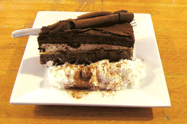photo of chocolate tiramisu cake from the Vanilla Bean Cafe, Pomfret, CT