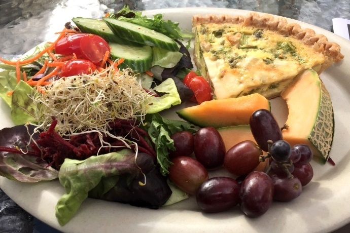 photo of quiche from the Vanilla Bean Cafe, Pomfret, CT