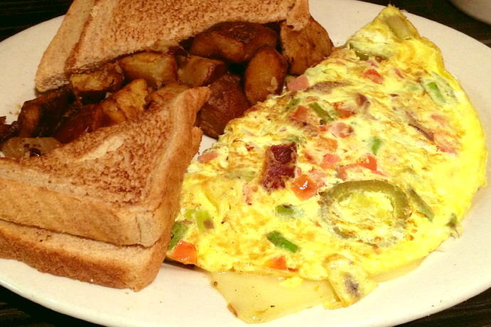 photo of a Newmarket omelet from Victoria's Diner, Boston, MA