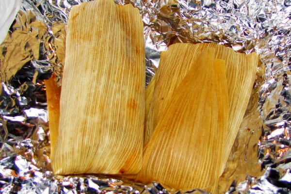photo of beef tamales from Villa Mexico, Boston, MA