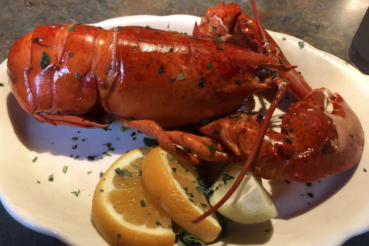 photo of lobster from The Village Manor, Dedham, MA