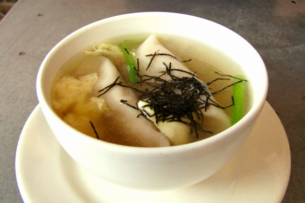 photo of beef dumpling soup from Village Sushi and Grill, Roslindale, MA