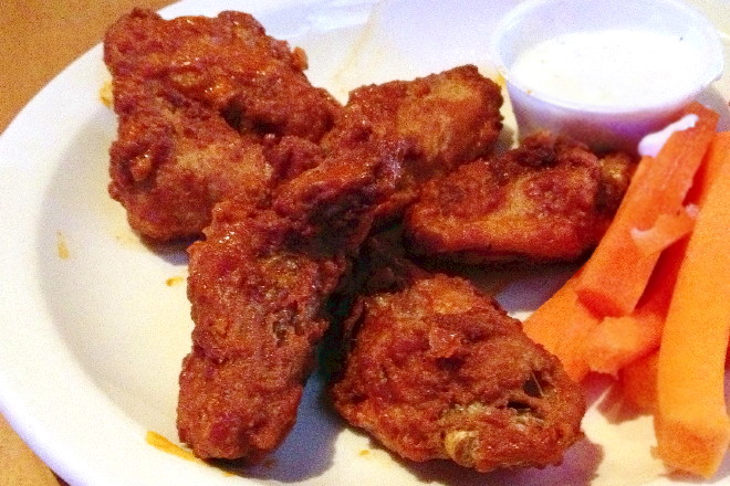 photo of chicken wings from Waterfront Cafe, Boston, MA