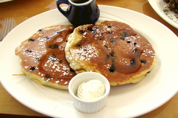 photo of blueberry pancakes from Wild Blueberry Cafe, Ogunquit, ME