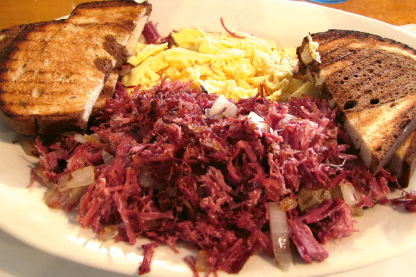 photo of corned beef hash from Yesterdays, Jackson, NH