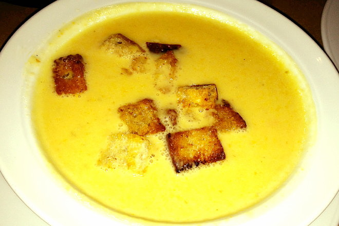 photo of beer and cheese soup from jm Curley, Boston, MA